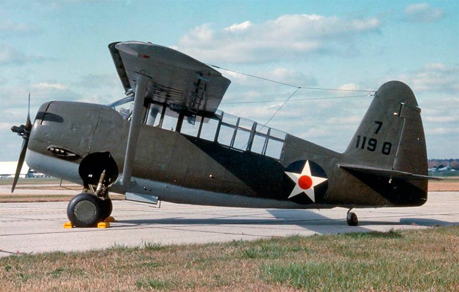 Кертис O-52 «Оул», вид сбоку