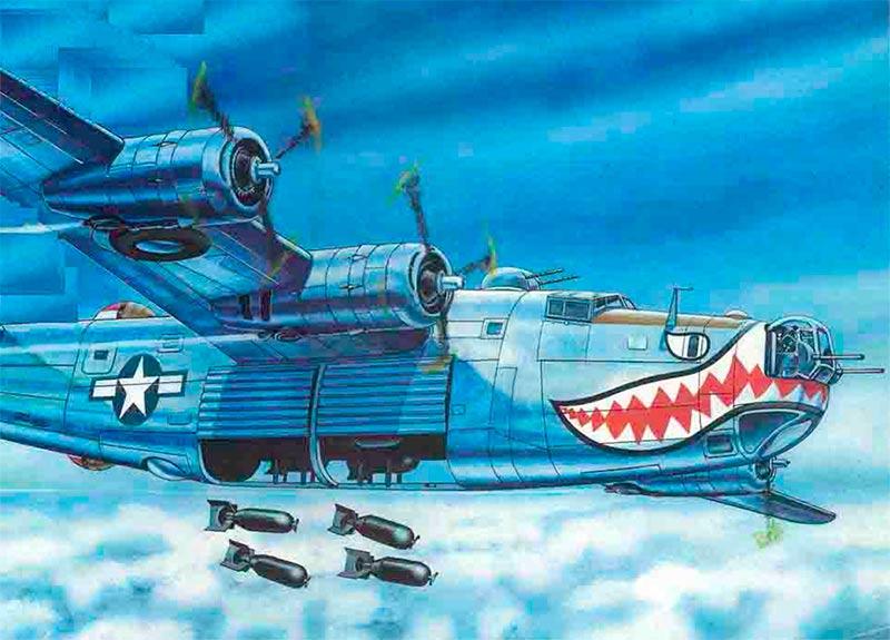 На этом рисунке B-24 хорошо видны те самые «шторки» бомболюков