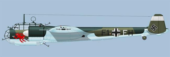 Бомбардировщик Do-215 вид сбоку