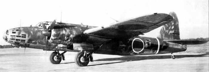 Бомбардировщик Ki-49 на аэродроме