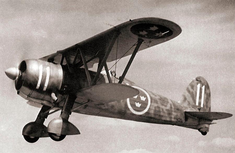 Итальянский истребитель начала второй мировой войны Fiat CR.42 «Сокол»