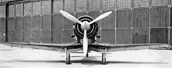 Истребитель И-28, вид спереди