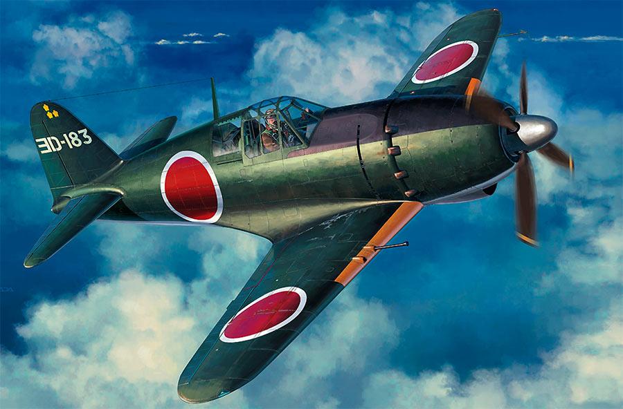 Японский истребитель-перехватчик времен Второй Мировой войны, «Рейден» J2M3.