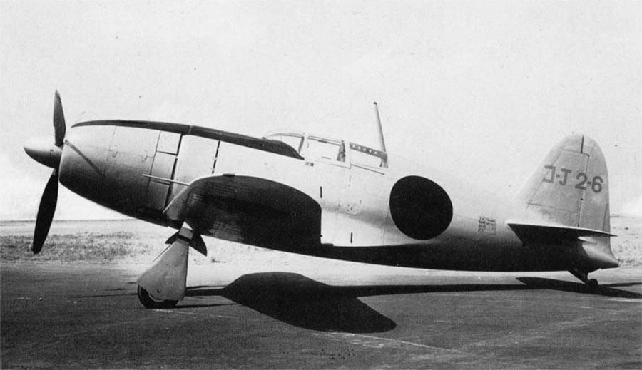 Прототип «Рейдена», один из первых японских истребителей-перехватчиков типа J2