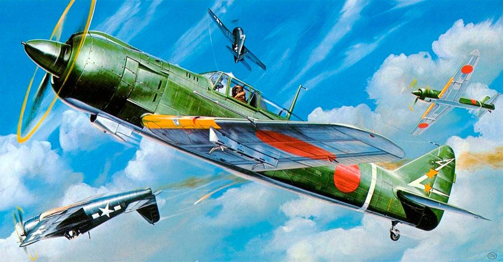 ...и тут мы ставим на Ki-61 новый двигатель и получаем совершенно другой самолет: Ki-100!