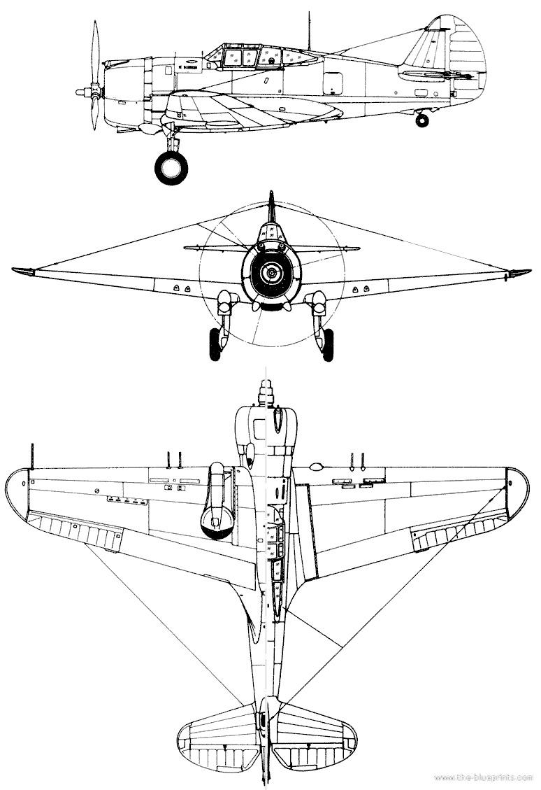Чертеж P-36 «Hawk»
