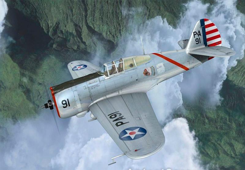 Американский истребитель Кертис P-36 «Hawk»