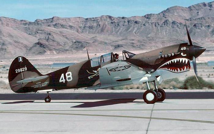 Американский истребитель второй мировой войны P-40 Томагавк