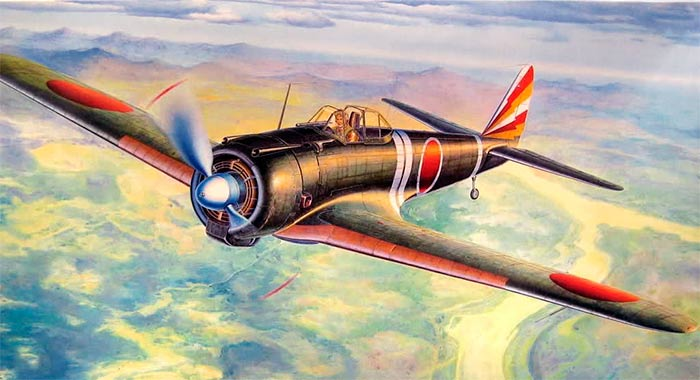 Японский истребитель Ki-43 'Hayabusa'