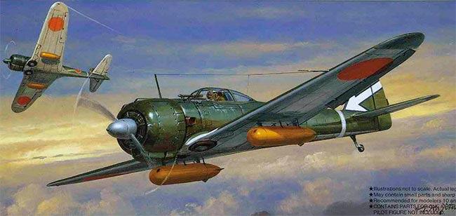 Истребитель Ki-43 «Hayabusa» фирмы Накадзима