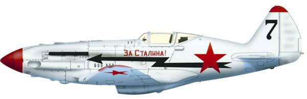 Истребитель МиГ-3 в зимнем камуфляже