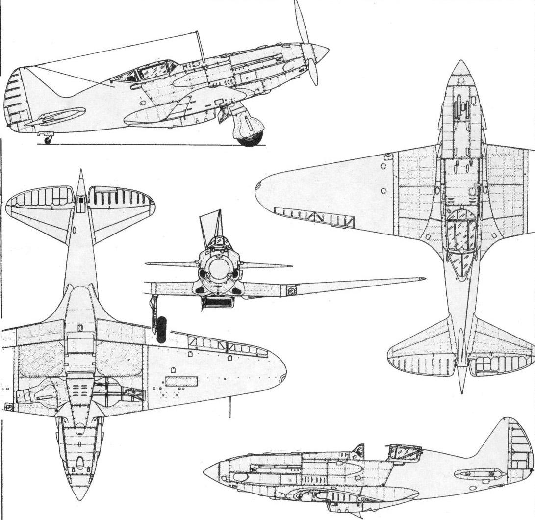 Чертеж истребителя МиГ-3
