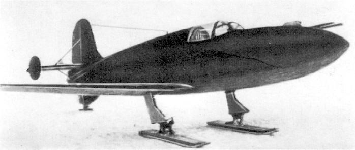 БИ-1 на лыжном шасси, вид спереди