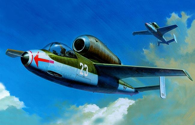 Реактивный истребитель He-162 «Spatz» (Германия)