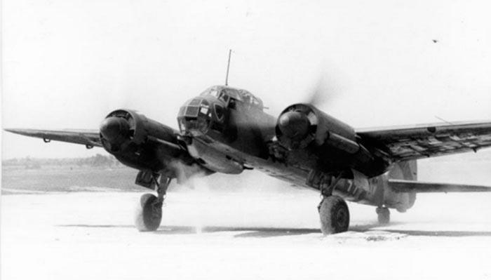 Ju-88 перед взлетом