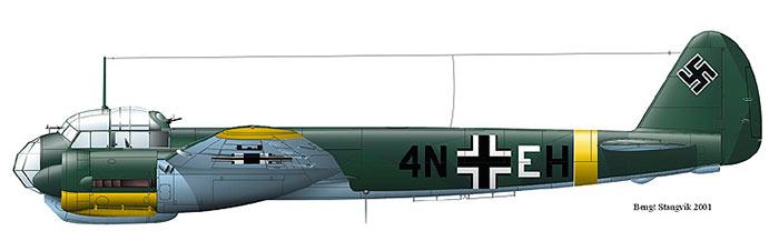 Ju-88, вид сбоку