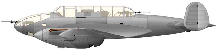Воздушный истребитель танков ВИТ-2, вид сбоку