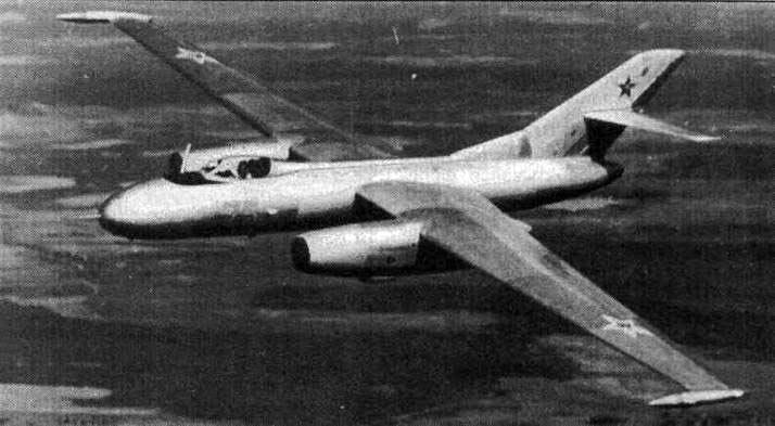 Дальний высотный разведчик Як-25РВ. Как можно заметить по этому фото, Як-25 очень «идут» прямые крылья
