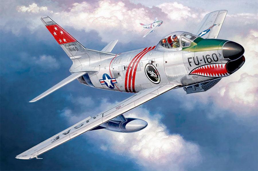 F-86G «Сейбр» - сильно отличается от предыдущих моделей внешним видом