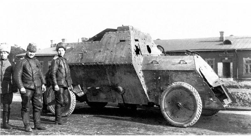Руссо-Балт поврежденный в бою 12 февраля 1915 года