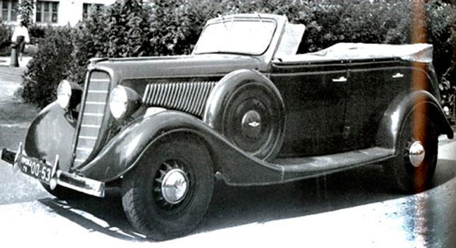 Автомобиль ГАЗ-М1 в варианте «Фаэтон»
