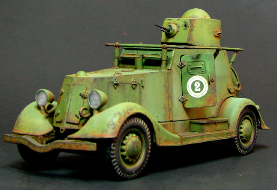 БА-20 легкий бронеавтомобиль на базе ГАЗ-М1