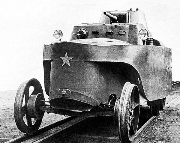 Плавающий Бронеавтомобиль БАД-2, бронедрезина