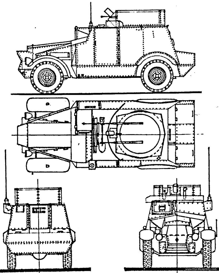 Чертеж бронеавтомобиля Morris CS9