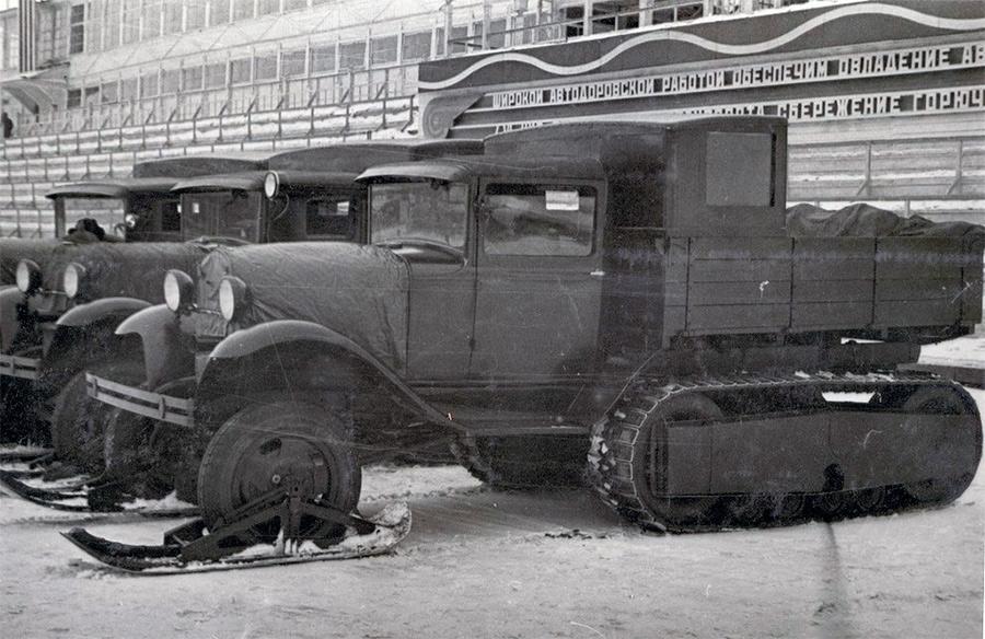 Полугусеничная модификация ГАЗ-АА известная как НАТИ-3