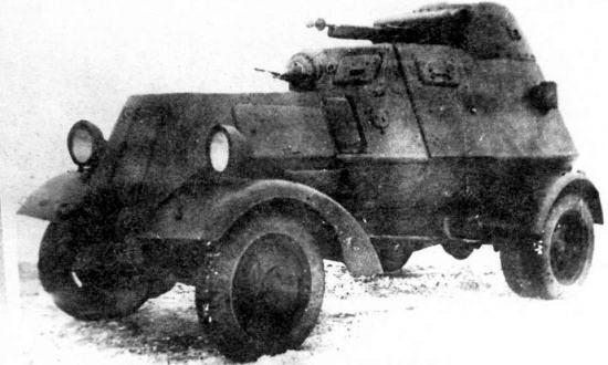 Бронеавтомобиль ЛБ-НАТИ, вид спереди-сбоку