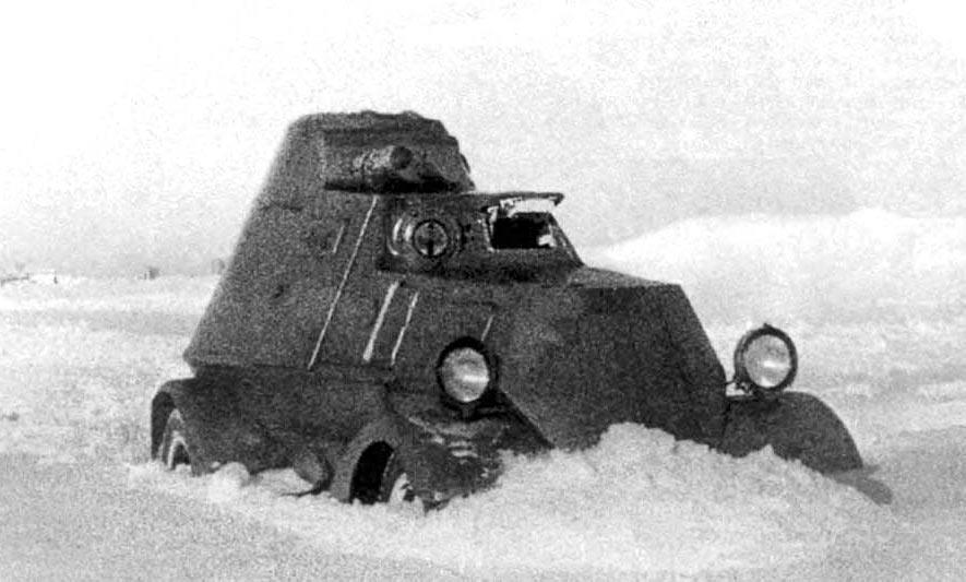 Бронеавтомобиль ЛБ-НАТИ на испытаниях