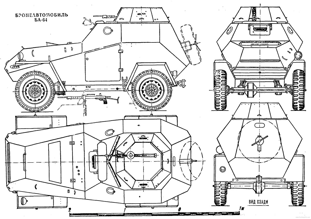 Чертеж бронеавтомобиля БА-64