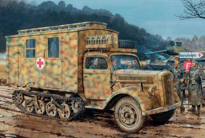 Полугусеничный грузовик Maultier