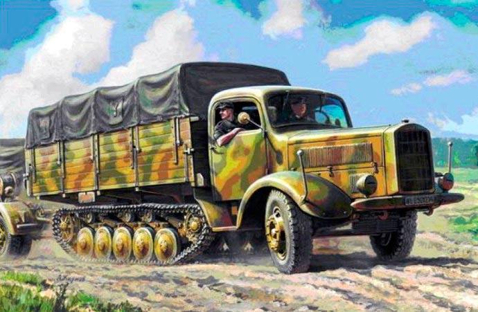 Полугусеничный грузовик 'Maultier' от фирмы Мерседес