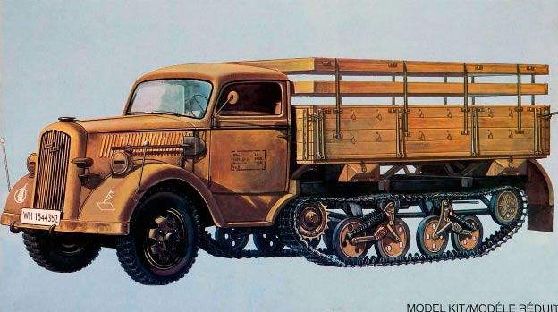 Полугусеничный грузовик 'Maultier' от фирмы Опель