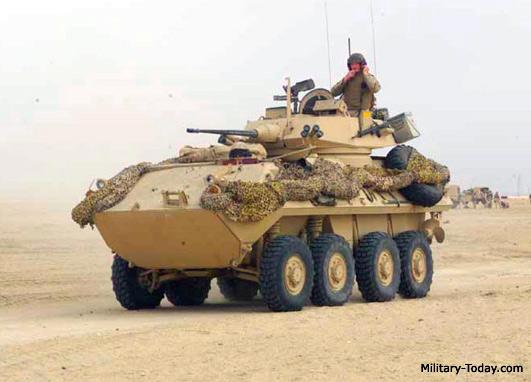 Колесная боевая машина LAV-25 - родная сестра «Пираньи»