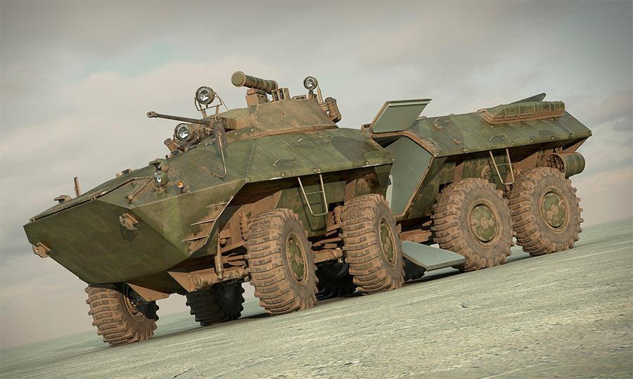 Модель бронетранспортера БТР-90 «Росток»