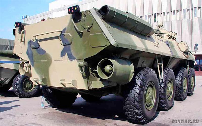 Водометные движители БТР-90 для движения на плаву