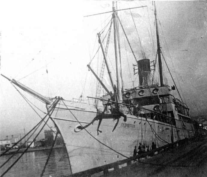 Гидрографическое судно «Гидрограф» (бывший минный заградитель «Дунай»), 1937 год