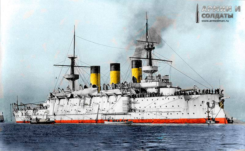 'Пересвет' в 1901 г., в средиземноморье. Оцветненние фото - armedman.ru =