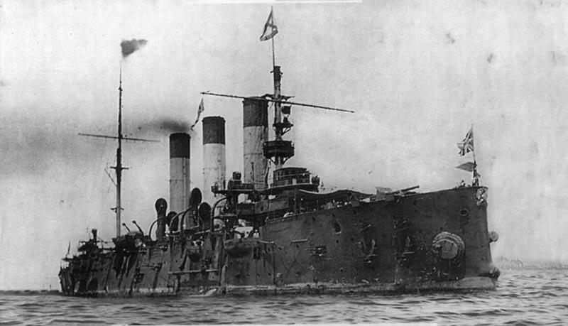 Крейсер 'Аврора' в Маниле, 1905 г.