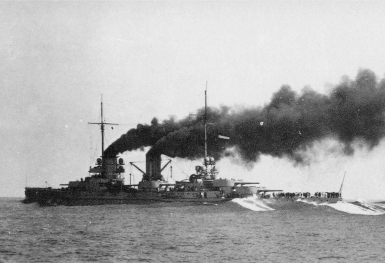 Линейный крейсер Гебен на испытаниях