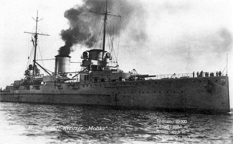 немецкий крейсер Мольтке