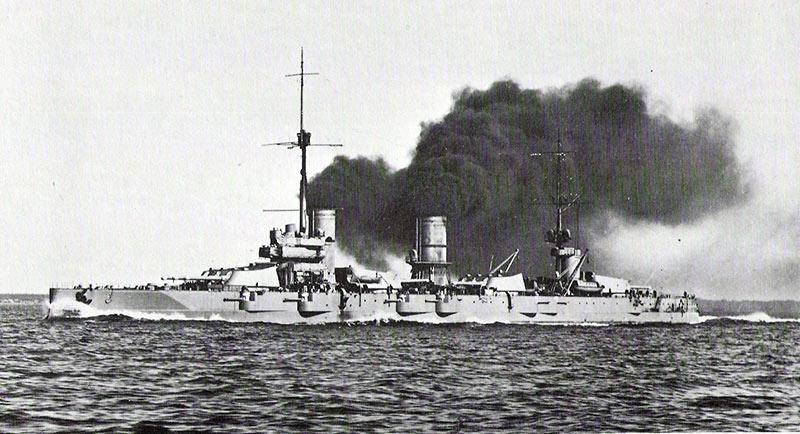 'Полтава' в походе, Первая мировая война