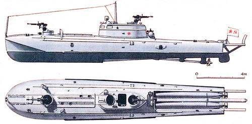 Торпедный катер типа Ш-4 выделяет явно «самолетными» формами