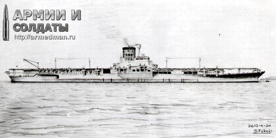 Японский авианосец 'Синано'