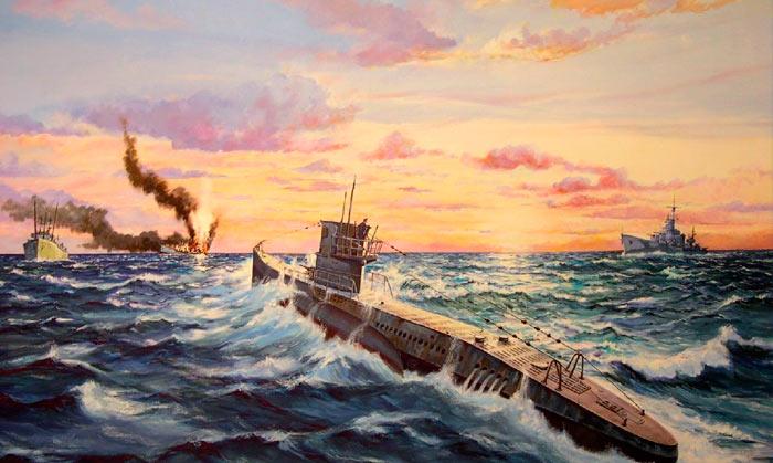 Бой подводной лодки «Торичелли» против трех английских эсминцев
