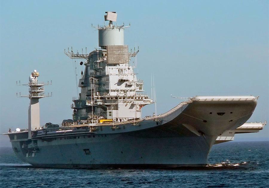 Индийский авианосец «Викрамадитья» (бывший «Адмирал Горшков») после модернизации