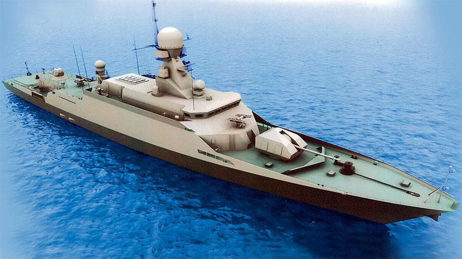 Модель малого ракетного корабля проекта 21631 «Буян-М»