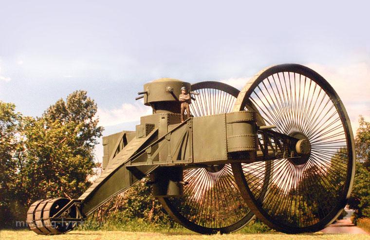 царь-танк (танк Лебеденко), вид сзади (комп. графика)